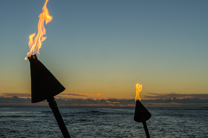 We Loved the Tiki Torches at Sunset