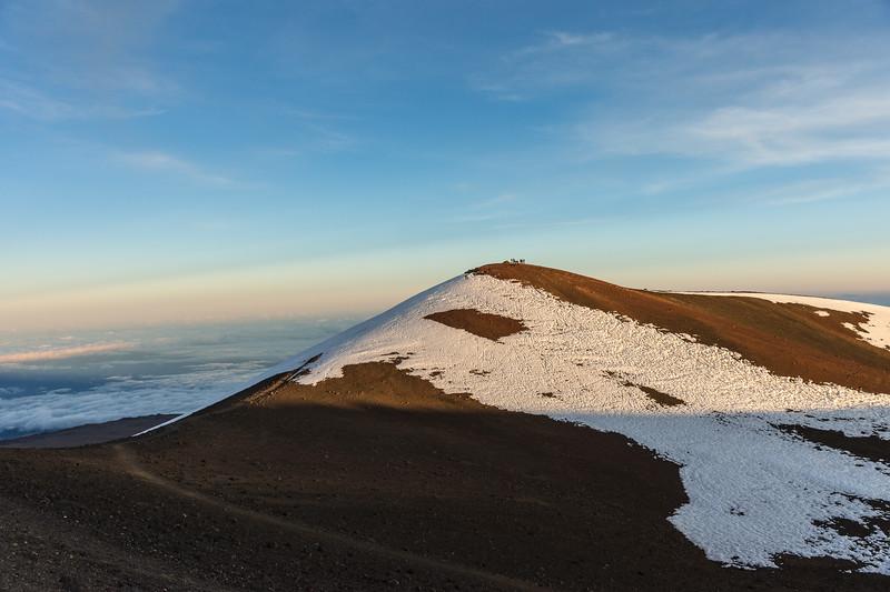 Mauna Kea Summit with Snow