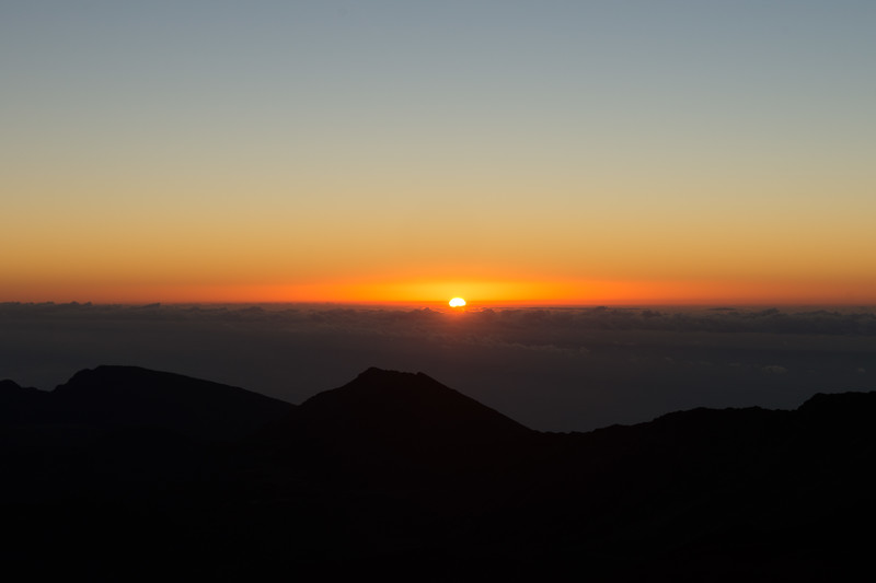 And here comes the sun at Haleakala