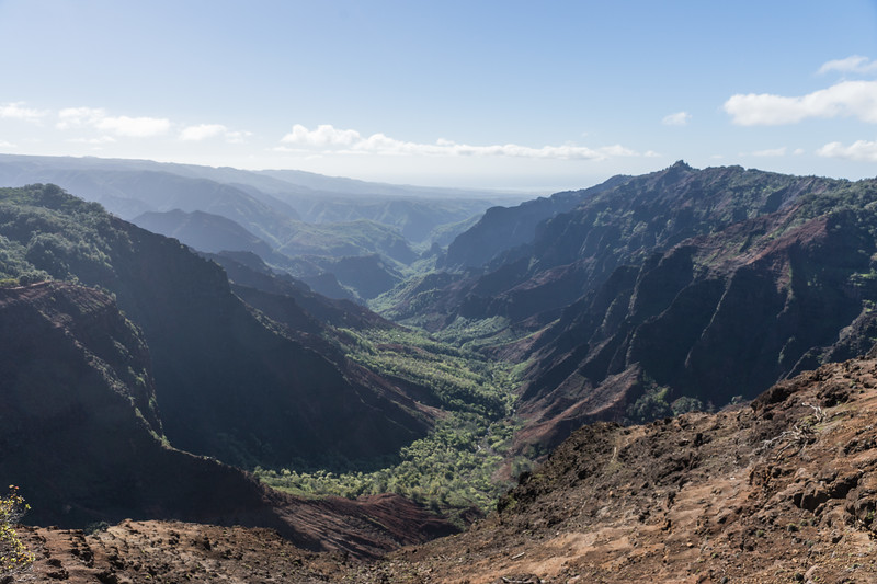 Road to Waimea Canyon - Kauai