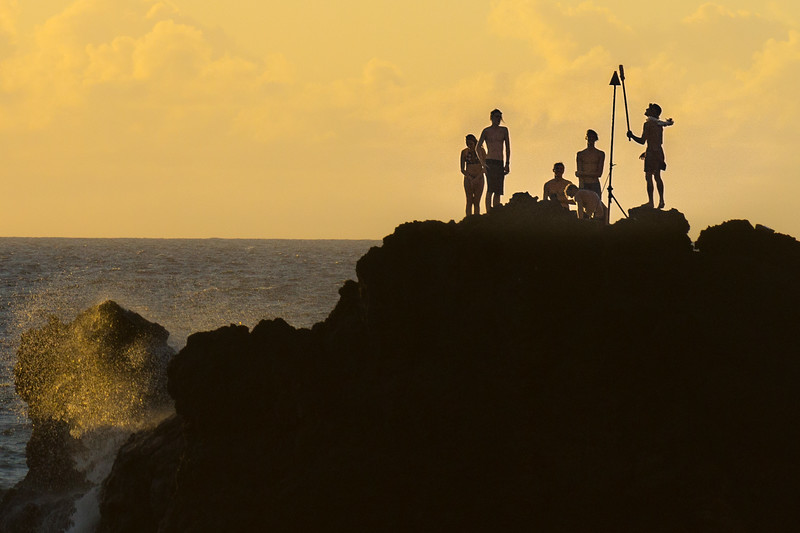 Cliff diving in Maui