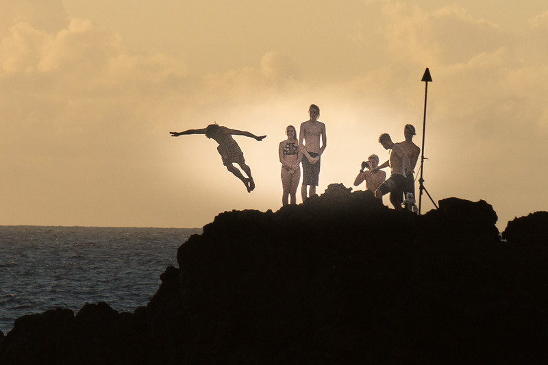 Cliff diving ritual