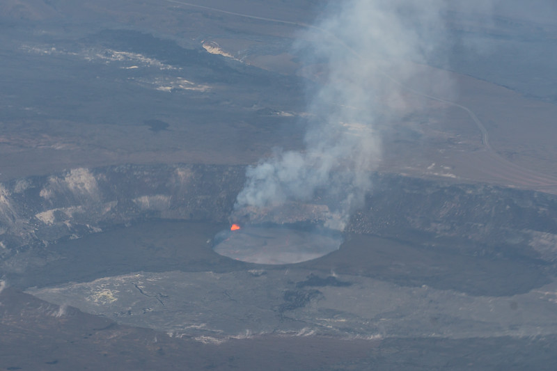 Halema'uma'u Crater from the Air