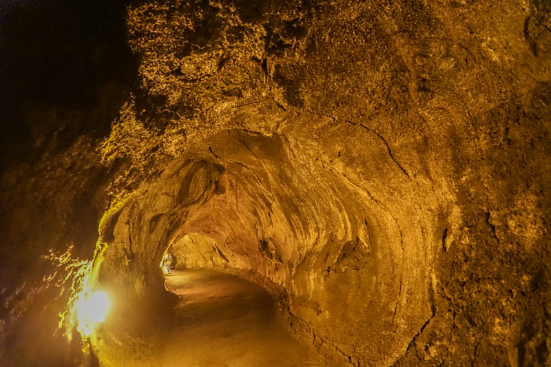 Lava Tube Caused by Hot Lava Flowing Through Cold