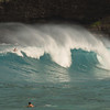 Surf at Hanauma Bay in Oahu