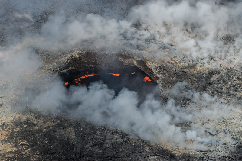 Inside the Kilauea Caldera Crater