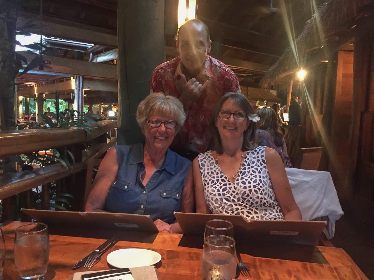 Hawaii 2017; Kauai. Stephanie's Birthday dinner at Keoki's Paradise near the Sheraton