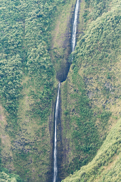 Waihilau Falls in Waimanu Valley Up Closer