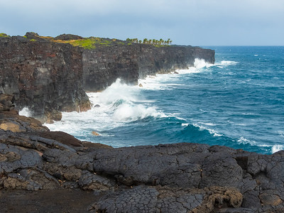 Coastline of Volcanoes National Park