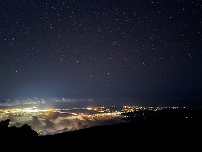 Night sky over Kahului