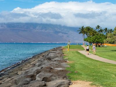 Kalama Park seawall, Kihei Maui