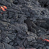 Lava breakout in pahoehoe lava as seen from helicopter, Big Island