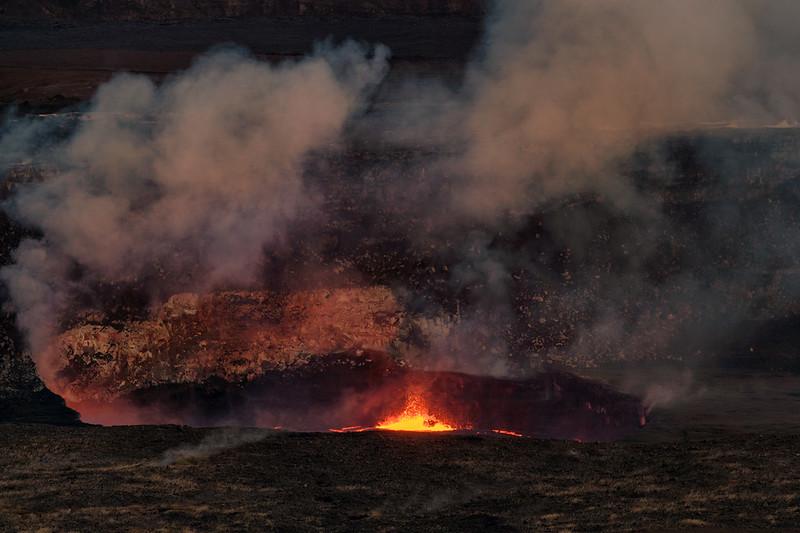 View of Kilauea Crater from  Jaggar Museum,  Hawaii Volcanoes National Park, Big Island