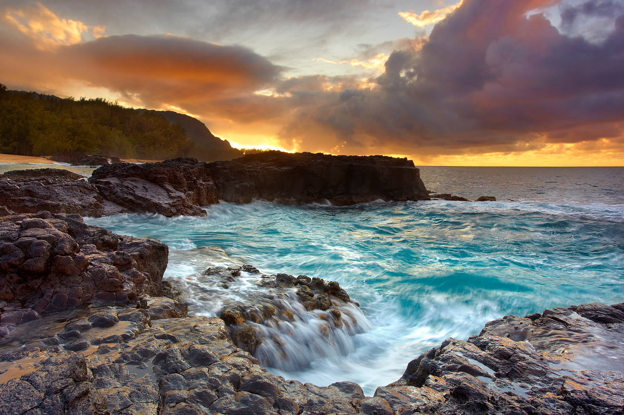 The Jacuzzi - Lumahai Beach, Kauai, Hawaii