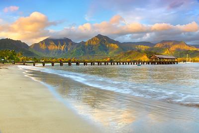 A New Day - Hanalai, Kauai, Hawaii