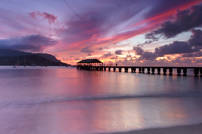 Sharing the Sunset - Hanalei, Kauai, hawaii