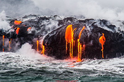 Kilauea Volcano lava flow 61G #3