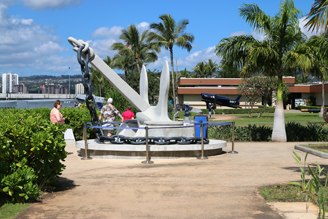 Recovered anchor from the USS Arizona