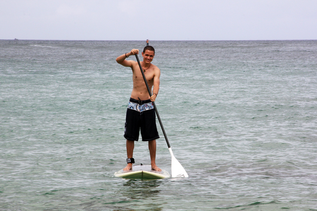 Stand up paddleboarding in Hawaii