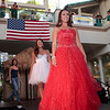 The elegance of Red, the innocence of White, and the strength of Blue all in the 4th of July fashion show at Aloha Tower Marketplace.