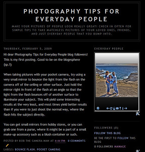 Photography Tips for Everyday People Blog