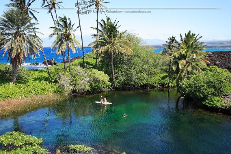Luahinewai at Kiholo Bay