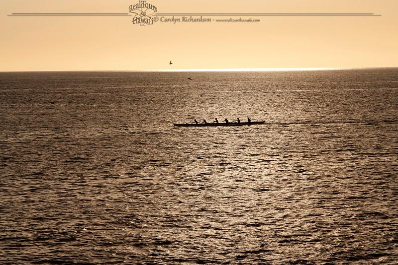 Sunset Paddle Kawaihae Canoe Club