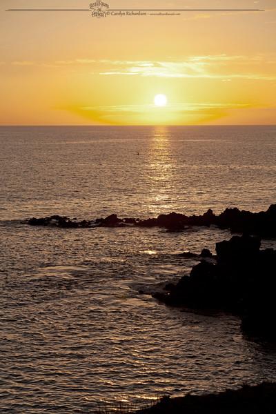 Sunset paddler - OC1