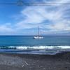 Sailboat off Kiholo Bay Black Sand Beach
