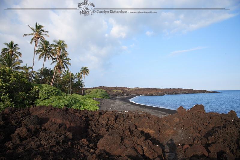 Black Sand Beach at Kiholo Bay