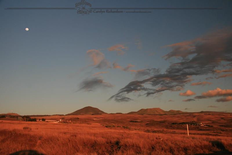 Moonrise over Kohala Ranch