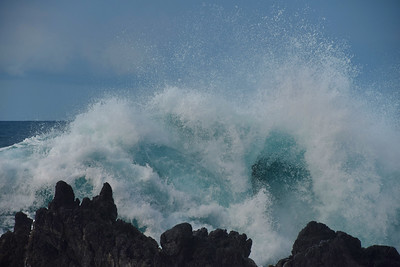 Breaker at Laupahoehoe Point