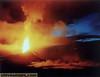 Day break at Pu'u O'o vent 0n Kilauea volcano 1985
