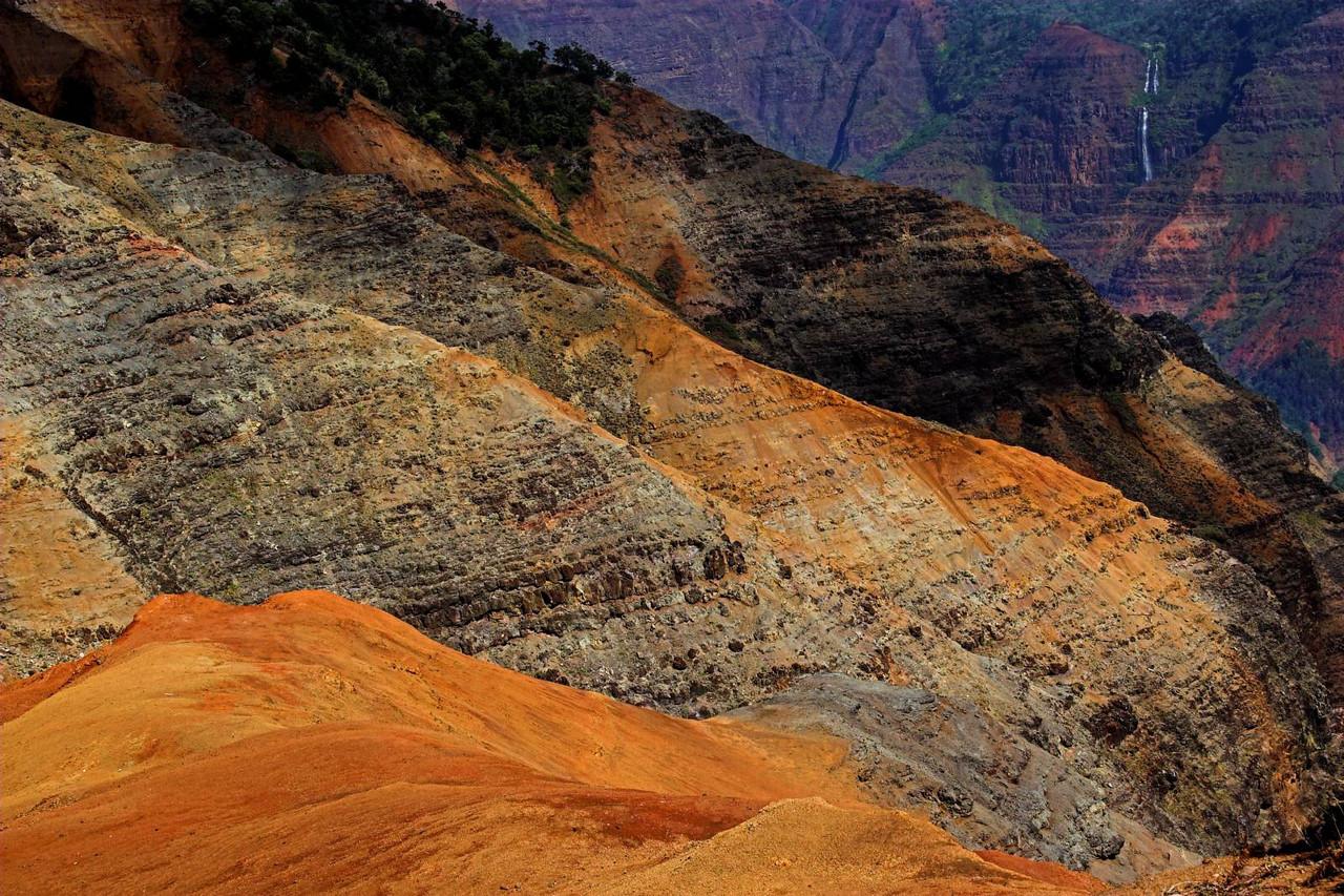 Splendid colors of Waimea Canyon, Kauai.
