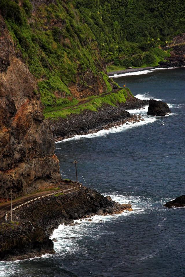 Hana Highway along the water. Maui.