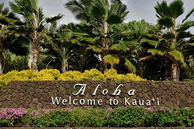 Arrival into Kaua'i.
