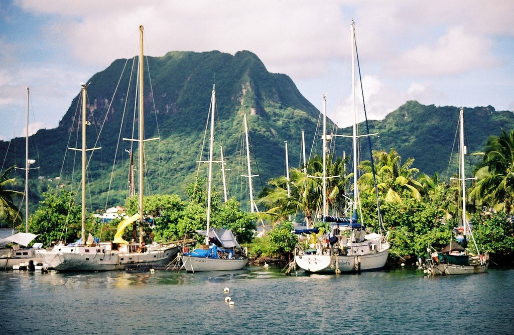 Main harbor of Pago Pago in American Samoa. This photo was taken in 2003 with a Canon A2e film camera.
