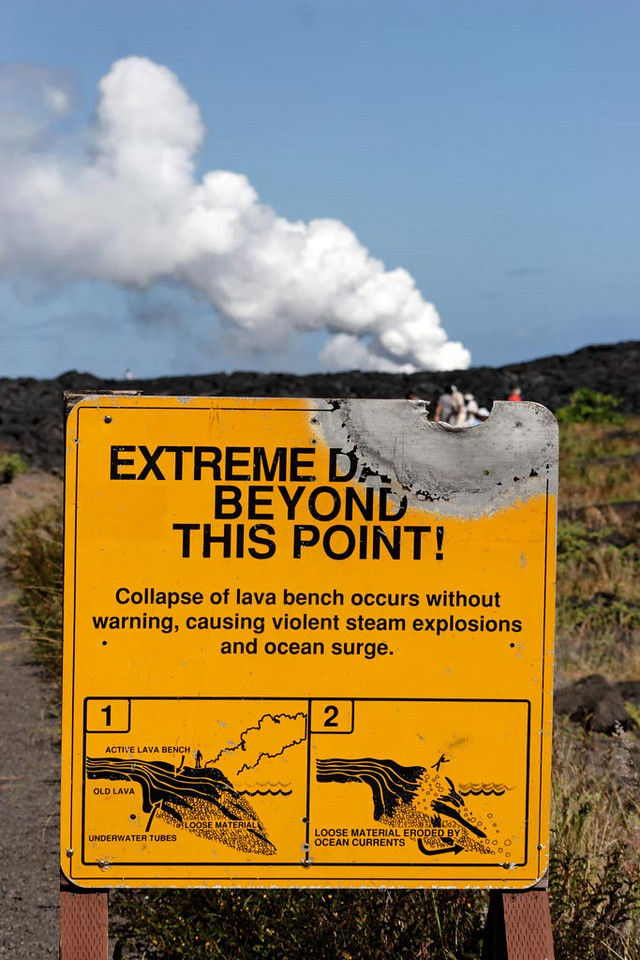 Entrance to the lava fields -Volcano National Park.