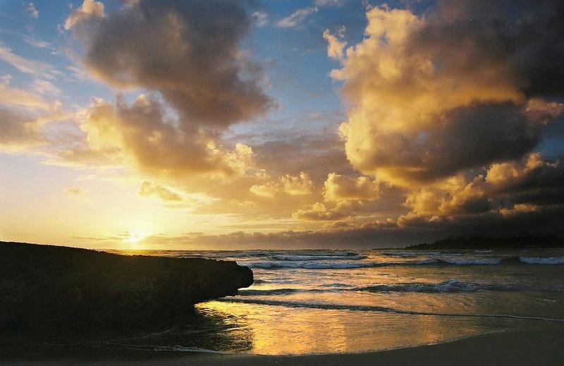 Sunrise on the north shore, Oahu. 2001