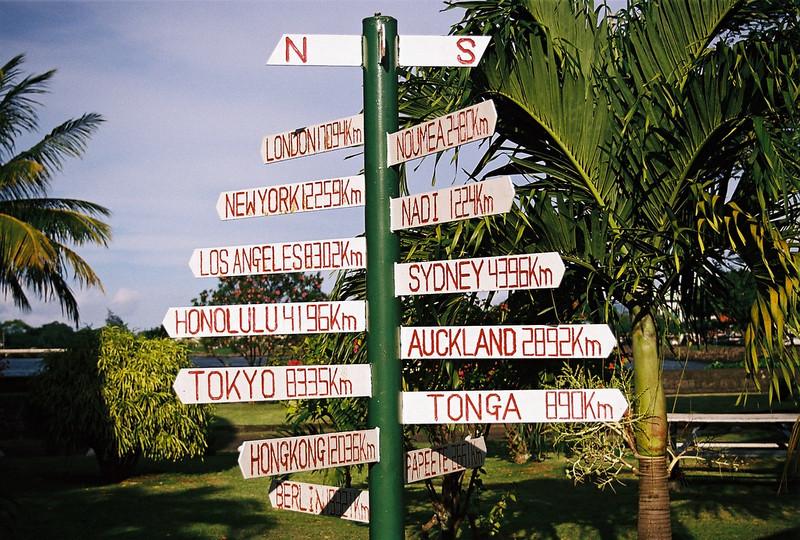 Distances from Western Samoa. 2003. Canon A2e.