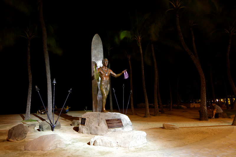 Statue of Duke Paoa Kahanamoku Waikiki Beach
