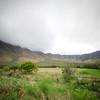 Oahu Hawaii landscape with overcast