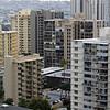 Apartment buildings in Honolulu Hawaii