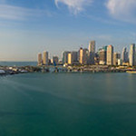 Aerial image of Downtown Miami and Port