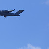 US Airforce aircraft on blue sky