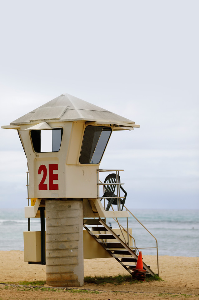 Waikiki Beach lifeguard tower