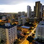 Honolulu Hawaii at dawn