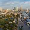 Aerial panoramic photo of Port Miami Florida USA