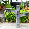 Waikiki Beach water fountain