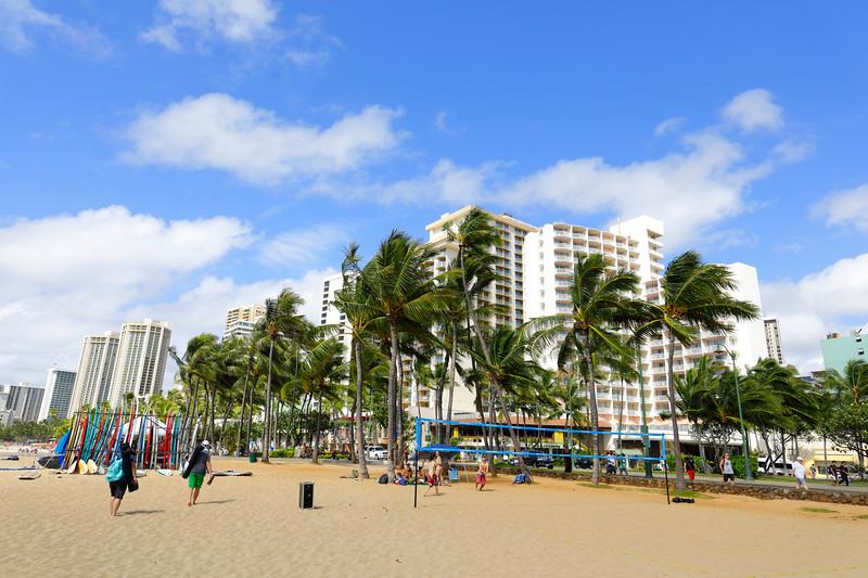 Volley ball on Waikiki Beach